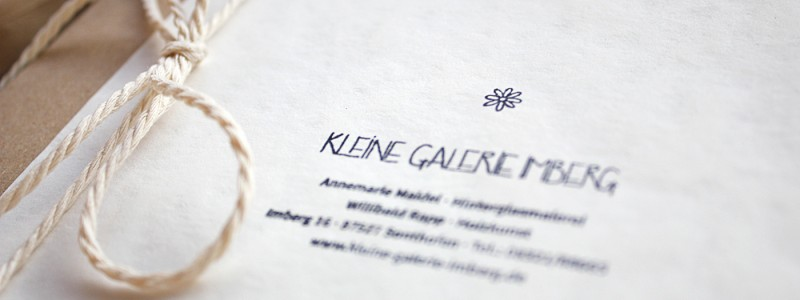 Kleine Galerie Imberg | Business stationery, online gallery and webshop